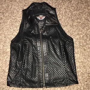 Harley Davidson sheer leather vest
